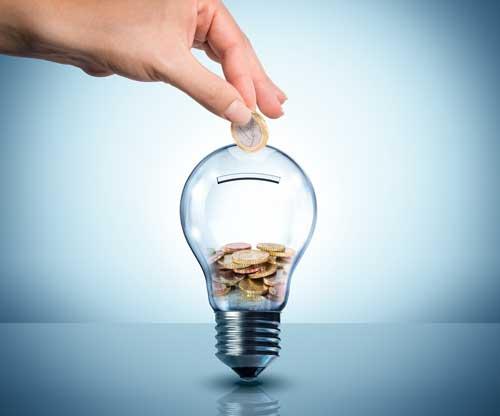 Ampoule symbolisant les économies d'énergies