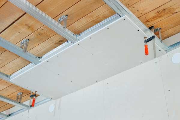 Faux plafond en placo