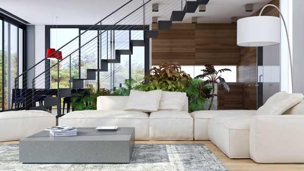 Aménagement intérieur d'une maison moderne