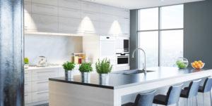 cuisine appartement blanche