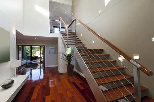 escalier design bois metal