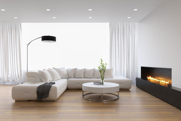 cheminee moderne dans salon