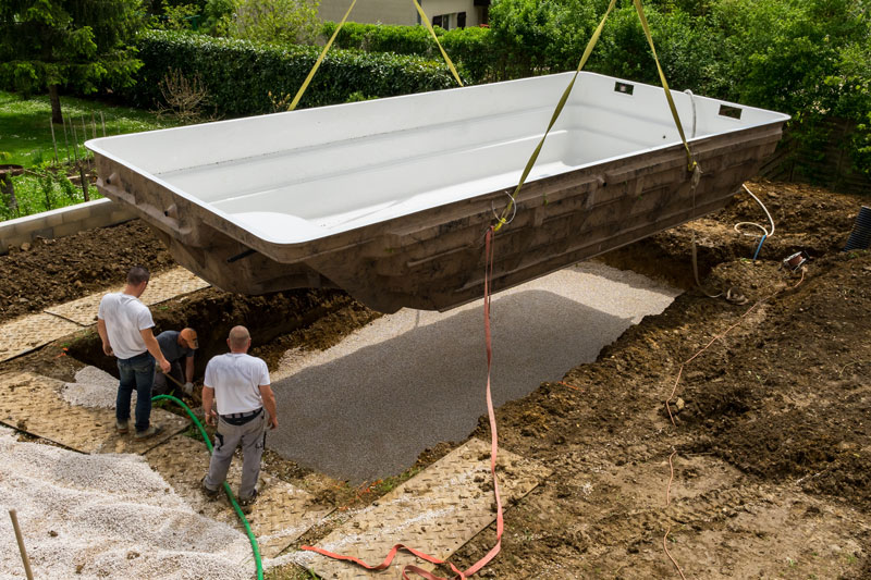 construction piscine hors sol