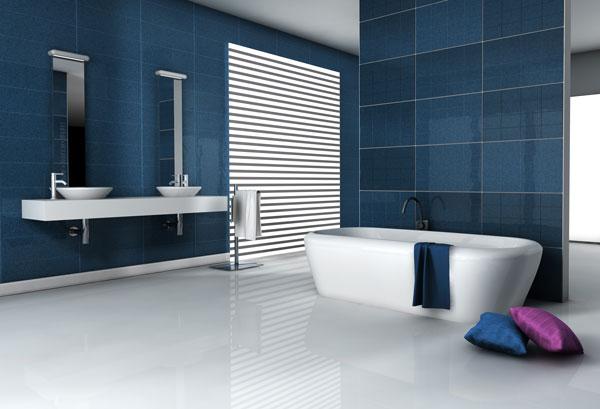 salle de bain moderne baignoire ilot vasques
