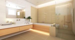 salle de bain spacieuse moderne