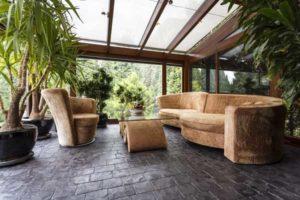 veranda moderne bois beton