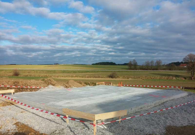 radier fondation maison beton