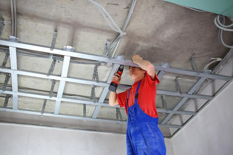 Prix et pose de placo au plafond constructeur travaux - Installer du placo au plafond ...