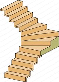 escalier quart tournant milieu