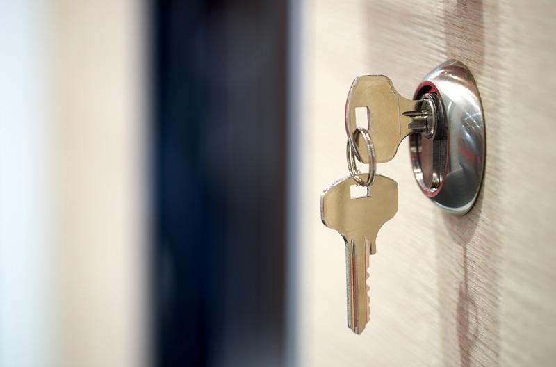 porte avec clé