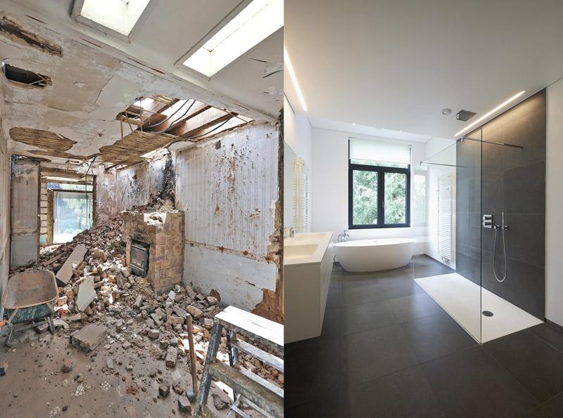 Prix d\'une rénovation de salle de bain - Constructeur travaux