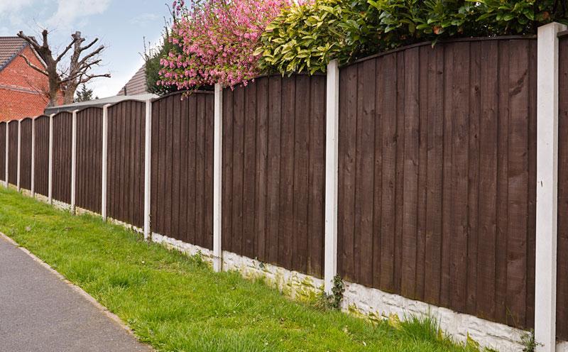 Prix d\'une clôture en béton imitation bois et de son ...
