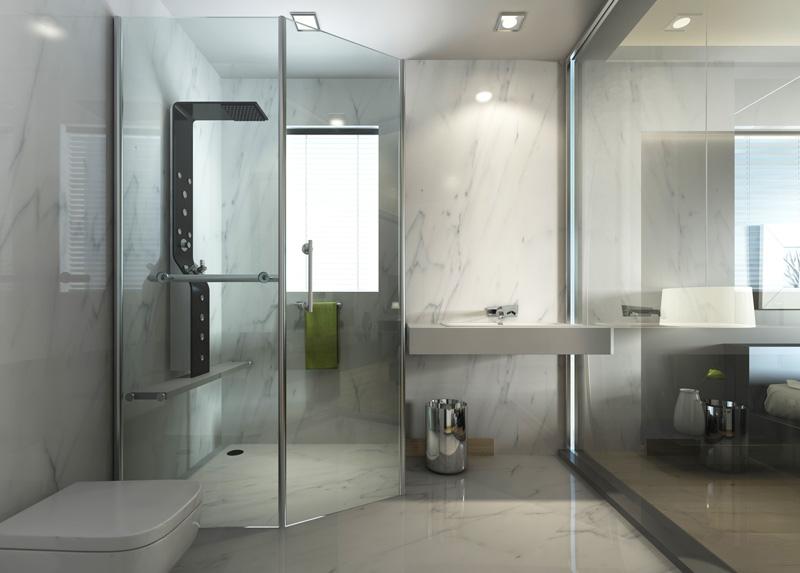 prix d 39 une verri re de salle de bain et de son. Black Bedroom Furniture Sets. Home Design Ideas