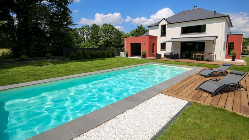 maison avec couloir nage