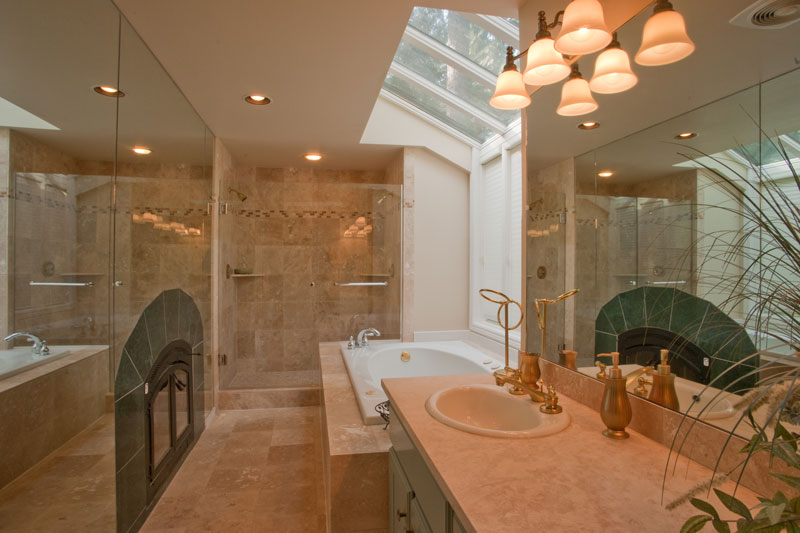 carrelage pierre naturelle salle de bain