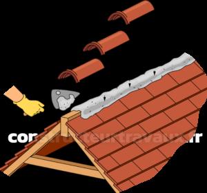 Pose faitage toiture
