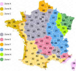 carte température de référence