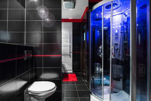 Caine de douche luxueuse avec hydromassage